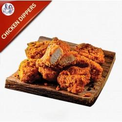 Chicken Dipper 10 stk. med pommes frites og remoulade
