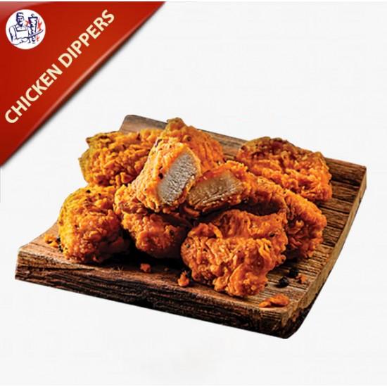 Chicken Nuggets 10 stk. med pommes frites og remoulade